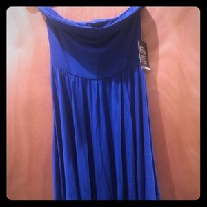 Express strapless dress in royal blue small